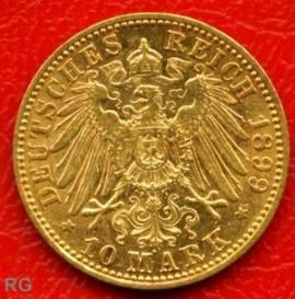 (Mi16) 10 Mark Preußen 1899 A ss- vz - Bild vergrößern