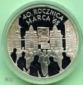 Polen 10 Zloty - 40 Jahre Märzunruhen 1968 - 2008
