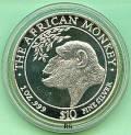 Somalia 10 $ Affenmotiv 1998 (1 oz Silber)