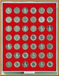 Lindner Münzbox für 42 Präsidentendollar (lose)
