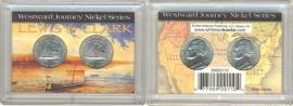 2 x 5 Cent US Nickel Lewis & Clark: Westward Journey 2004 D+P