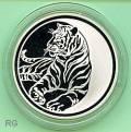 Russland 3 Rubel - Jahr des Tigers - 2010