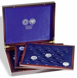 Leuchtturm Münzenkassette für alle 61 x 10-DM-Münzen in Kapseln mit Rand (3 Tableaus)