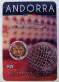 2 € Andorra 2016 - 25 Jahre öffentlich-rechtlicher Rundfunk - Coin Card