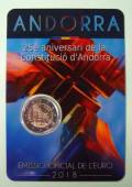 2 € Andorra 2018 - 25 Jahre Verfassung - Coin Card