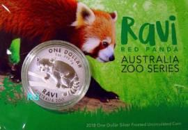 Australische Zoo Serie: 1 $ Australien 2018 - Panda Ravi (RAM) unc. Blister