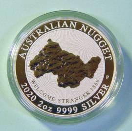 2 $ Australien 2020 Australien Nugget: Welcome Stranger BU