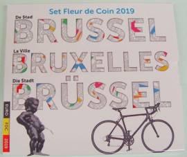 Belgien Kursmünzsatz 2019 - mit 2 x 2,5 € Mannecken Pis + Tour de France- stgl.