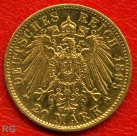 (Mi14) 20 Mark Bayern 1895 D ss - Bild vergrößern