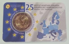 2 Euro Belgien 2019 - 25 Jahre Europäisches Währungsinstitut - (franz. Ausgabe) Coin Card