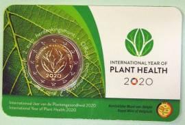 2 Euro Belgien 2020 - Intern. Jahr der Pflanzengesundheit - (niederländ. Ausgabe) Coin Card