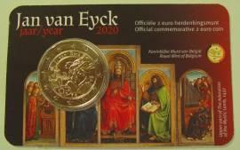 2 Euro Belgien 2020 - Jan van Eyck - (niederländ. Ausgabe) Coin Card