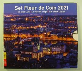 Belgien Kursmünzsatz 2021 - mit 2 x 2,5 € Bierkultur + Fußball - stgl.