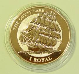 British Indian Ocean Territory 1 Royal Cutty Sark Segelschiff 2021 BU