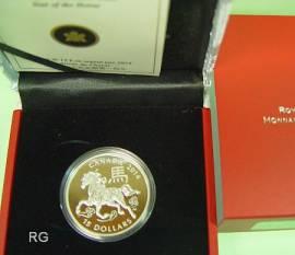 Kanada 15 $ 2014 Lunar Lotus Serie - Jahr des Pferdes - (Rundform)