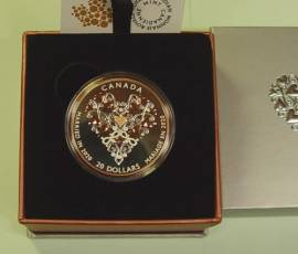 Kanada 20 $ 2020 Glückwünsche zur Hochzeit / Hochzeitsmünze Proof teilvergoldet