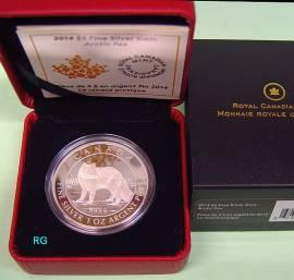 Kanada 5 $ 2014 - Polarfuchs - Proof
