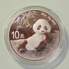 China 10 Yuan 2020 Panda (stgl)