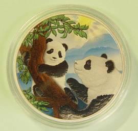 China 10 Yuan 2021 Panda Sonnenschein (stgl)