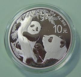China 10 Yuan 2021 Panda (stgl)