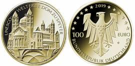 Vorverkauf! 100 € Deutschland 2019 - UNESCO-Weltkulturerbe Dom zu Speyer - A -