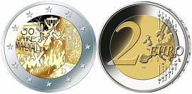 5 x 2 Euro Deutschland 2019 - 30 Jahre Mauerfall - A, D, F, G, J (stgl.)