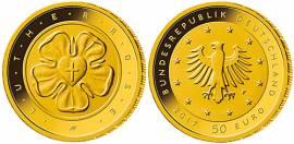 Deutschland 50 € 2017 - Lutherrose - D