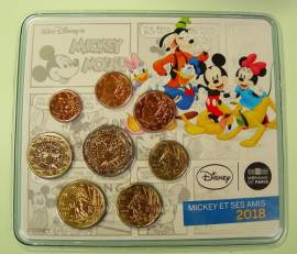 Frankreich - Mickey Mouse and friends - KMS 2018 BU 3,88 Euro, Aufl. 500 Stck.!