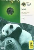 Großbritannien 50 Pence 2011  - 50. Geburtstag WWF - (cu/ni BU)