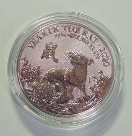 Großbritannien 2 £ 2020 - Lunar: Year of the Rat / Jahr der Ratte - (Silber BU)