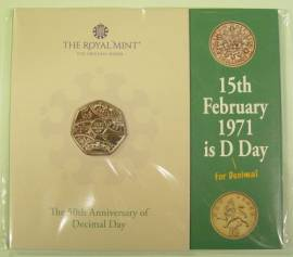 Großbritannien 50 Pence 2021 - Decimal Day - (cu/ni BU)