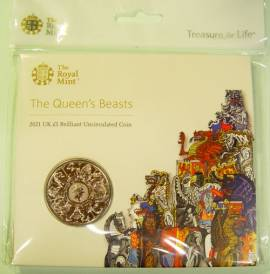 Großbritannien 5 £ 2021 - Queens Beasts: Completer - (cu/ni BU)