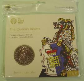 Großbritannien 5 £ 2019 Queen's Beasts (7): Yale of Beaufort 2 oz BU in Kapsel