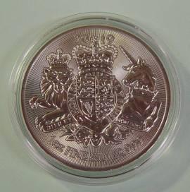 Großbritannien 2 £ 2019 Royal Coat of Arms 1 oz unc. in Münzkapsel