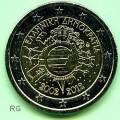2 €  Griechenland 2012 - 10 Jahre Euro Bargeld -