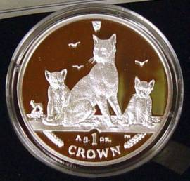 Isle of man 1 crown 2016 Tobacco Brown (Havana Brown) Katze