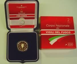 2 € Italien 2020 - 80 Jahre Nationale Feuerwehr - PP