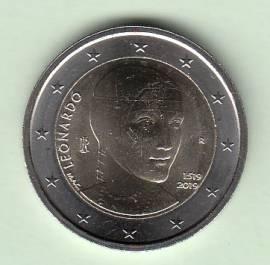 2 € Italien 2019 - 500. Todestag Leonardo da Vinci - bfr.