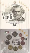 Italien 2013 - Kursmünzsatz stgl. + 2 € Verdi