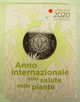 Italien 2020 - Kursmünzsatz PP + 2 € Montessori + 5 € Pflanzengesundheit