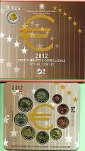 Italien 2012 - Kursmünzsatz stgl. + 2 € Eurobargeld