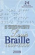 2 € Italien 2009 - 200. Geb. Louis Braille - Blister