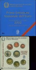 Italien 2002 - erster offizieller Kursmünzsatz in Euro stgl. -