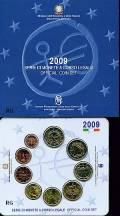 Italien 2009 - Kursmünzsatz stgl mit - 2 € WWU -