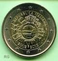 2 € Italien 2012 - 10 Jahre Euro Bargeld - bfr.