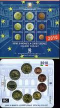 Italien 2010 - Kursmünzsatz stgl. 2010 + 2 € Cavour  -