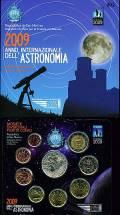 San Marino offizieller KMS 2009 stgl. - inkl. 5 € Internationales Jahr der Astronomie -