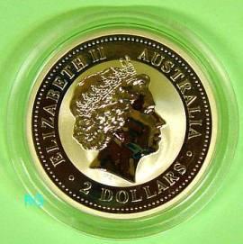 Australien 2 $ Kookaburra 2005 2 oz - Bild vergrößern