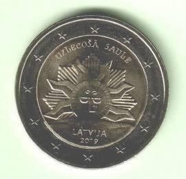 2 € Lettland 2019 - Aufgehende Sonne / Wappen Lettlands - bfr.