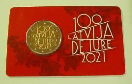 2 € Lettland 2021 - de lure 100 J. Anerkennung der Republik - Coincard